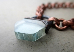 Chakra Choker Aquamarine by Silvia Peluso