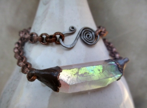 Crown Chakra Choker with Opal Aura Quartz by Silvia Peluso