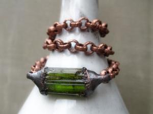 Chakra Choker Green Tourmaline by Silvia Peluso