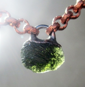 Third Eye Chakra Choker withMoldavite by Silvia Peluso