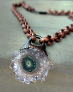 Choker Necklace with Amethyst Stalactite by Silvia Peluso