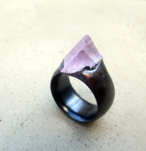 Kunzite Copper Ring by Silvia Peluso