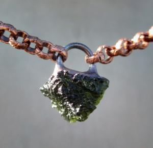 Moldavite Chakra Choker by Silvia Peluso