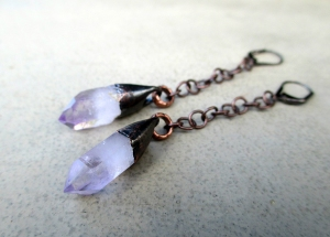Vera Cruz Amethyst Earrings by Silvia Peluso