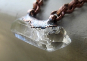 Chakra Choker with Double Terminated Quartz by Silvia Peluso