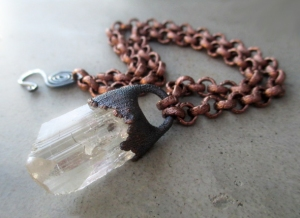 Crown Chakra Choker with Danburite by Silvia Peluso