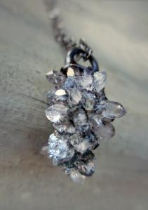 Sparkling Catapilar Quartz Pendant by Silvia Peluso
