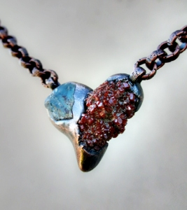 Aquamarine Vanadinite Heart by silvia Peluso