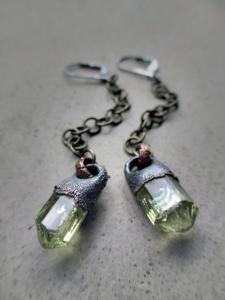 Yellow Apatite Earrings by Silvia Peluso